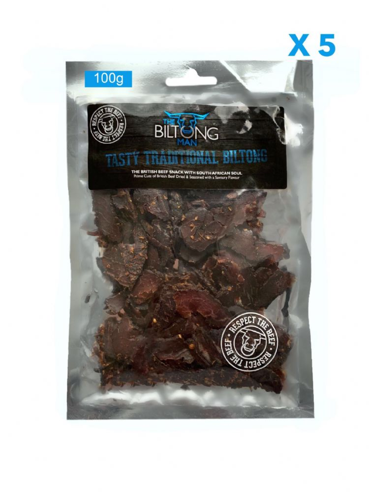 LEAN - Traditional Biltong 100g x 5